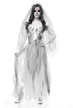 BuySeasons Women's Ghost Bride Adult Costume