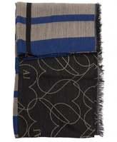 Armani Jeans Wool Multi Pattern Shawl