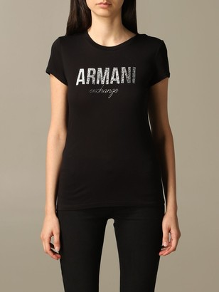 Armani Collezioni Armani Exchange T-shirt Armani Exchange T-shirt With Laminated Logo