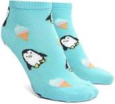 Forever 21 FOREVER 21+ Penguin Ice Cream Ankle Socks