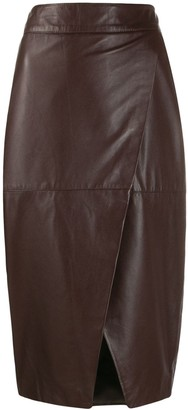 L'Autre Chose Wrapped Pencil Skirt