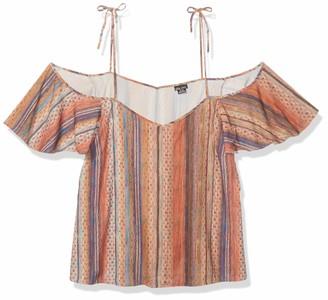 City Chic Women's Apparel Women's Plus Size Cold Shoulder Boho Printed top