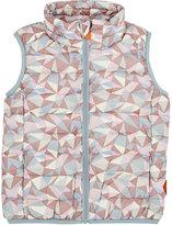 Save The Duck Geometric-Print Puffer Vest