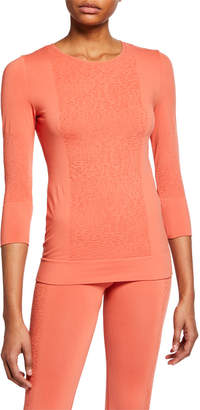 adidas by Stella McCartney Seamless Knit 3/4-Sleeve Active Top