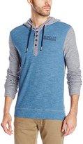 Buffalo David Bitton Men's Nifear Long Sleeve Hooded Waffle Henley Shirt