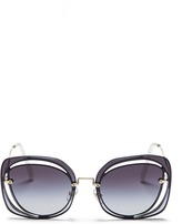 Miu Miu Mounted lens cutout metal sunglasses
