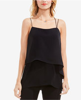 Vince Camuto Mixed-Media Layered Tank Top