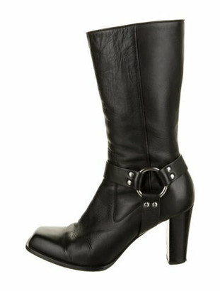 Altuzarra Leather Moto Boots Black