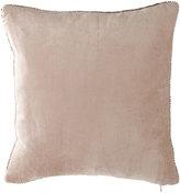 """Michael Aram Beaded-Edge Velvet Pillow in Blush, 18"""" Square"""