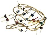 Fishing Bobber Garland 9 Feet Long with 17 Wood Bobbers on Jute Rope