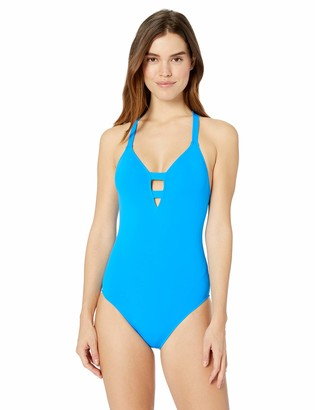 """Seafolly Active Deep """"V"""" Maillot Women's One Piece Swimsuit"""