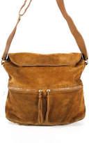 Elizabeth and James Brown Dune Suede James Crossbody Hobo Handbag $545 Large 900