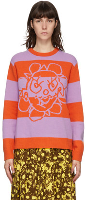 Marc Jacobs Orange and Purple Heaven by Striped Crazy Daisy Sweater