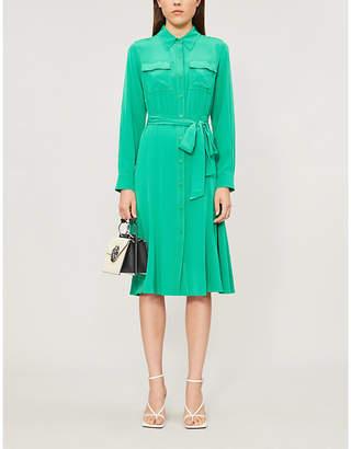 Diane von Furstenberg Antonette silk shirt midi dress