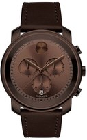 Movado 'Bold' Chronograph Leather Strap Watch, 44Mm