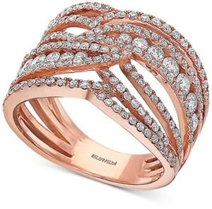 Effy Diamond Openwork Statement Ring (1-1/3 ct. t.w.) in 14k Rose Gold
