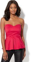 New York & Co. 7th Avenue - Madison Stretch Shirt - Strapless Peplum