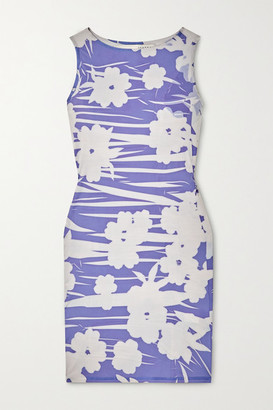 IOANNES Carrie Floral-print Stretch-jersey Mini Dress - Blue