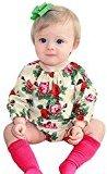 Fheaven Newborn Baby Boys Girls Romper Floral Long Sleeve Jumpsuit Bodysuit Outfits Clothes (18M)