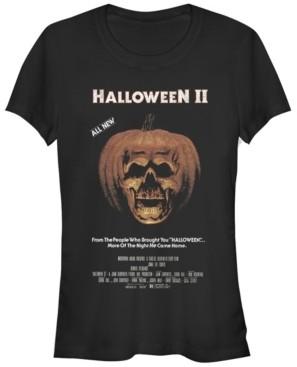 Fifth Sun Halloween 2 Women's Pumpkin Movie Poster Short Sleeve Tee Shirt