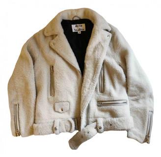 Acne Studios Ecru Shearling Jackets