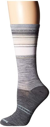 Smartwool Sulawesi Stripe (Light Gray) Women's Crew Cut Socks Shoes
