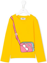 Moschino Kids handbag print top