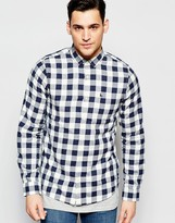 Jack Wills Shirt In Navy And White Check