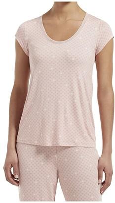 Hue Join The Dots Short Sleeve Sleep Tee with Temp Tech (Calming Rose) Women's Pajama