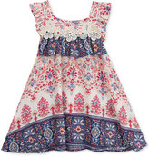 Rare Editions Printed A-Line Dress, Toddler and Little Girls (2T-6X)