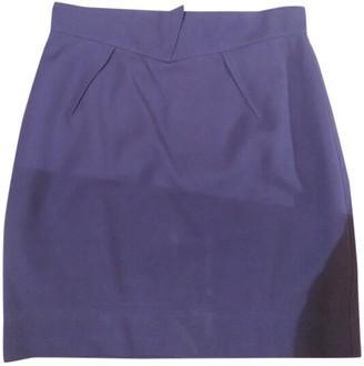 Thierry Mugler Purple Cotton Skirts