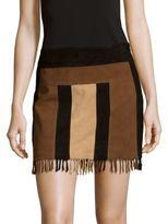 Parker Stevie Leather Skirt