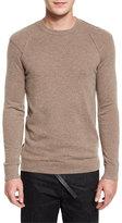 Helmut Lang Cashmere Reverse-Seam Crewneck Sweater, Walnut