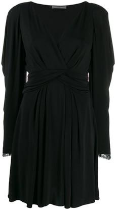 Alberta Ferretti Lace Sleeve Dress