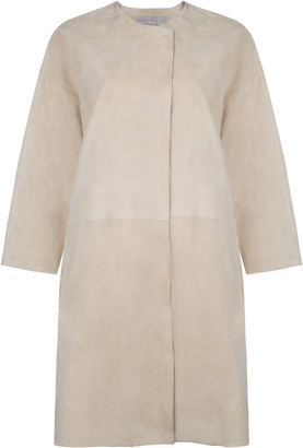 Gushlow & Cole Collarless Suede Coat