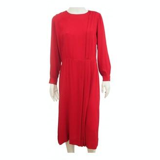 Hermes Red Silk Dress for Women Vintage