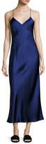 The Row Double-Face Silk Cami Gown, Dark Blue