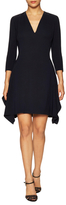 Christian Dior Silk 3/4 Sleeve V-Neck Dress