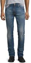 Nudie Jeans Lean Dean Indigo Throb Skinny-Leg Jeans, Blue