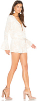 Amanda Uprichard Serefina Romper in Ivory. - size L (also in )