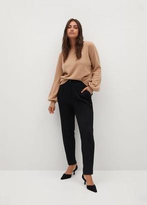 MANGO Violeta BY Slim fit suit pants black - S - Plus sizes