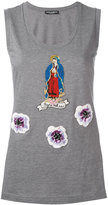 Dolce & Gabbana Virgin Mary patch tank top
