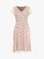 Phase Eight Leilani Spot Dress, Dusty Rose