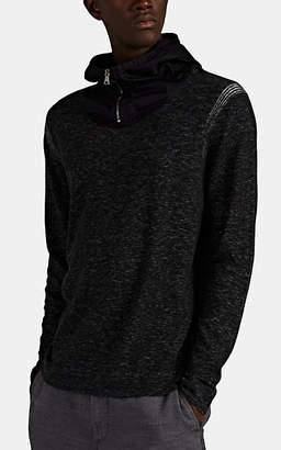 John Varvatos Men's Cotton-Blend Half-Zip Hoodie - Black