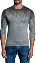 Jared Lang Ombre Quilt-Pattern Sweater