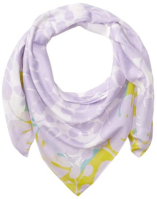 Kate Spade Monstera Grove Square Scarf (Frozen Lilac) Scarves