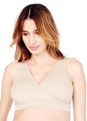Ingrid & Isabel Women's Seamless Crossover Nude Nursing Bra