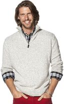 Chaps Men's Classic-Fit Marled Quarter-Zip Pullover