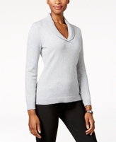 Charter Club Petite Shawl-Collar Sweater, Created for Macy's