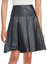 MICHAEL Michael Kors Pleated Faux Leather Skirt